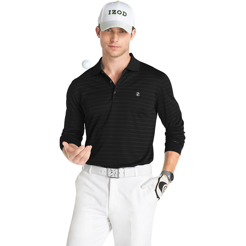 IZOD Texture-Striped Performance Golf Polo - Men