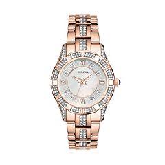 Bulova Women's Crystal Stainless Steel Watch 98L197