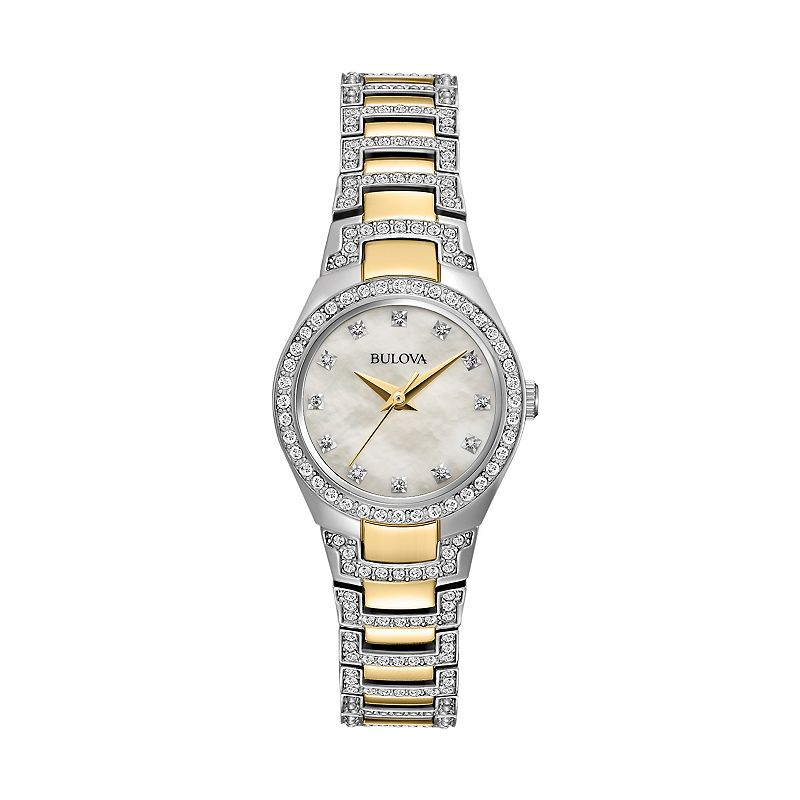 Bulova gold tone pearl watch kohl 39 s for Watches kohls