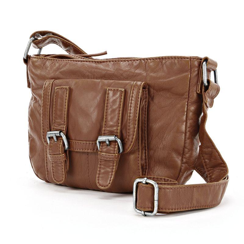 Mudd® Double-Buckle Mini Crossbody Bag