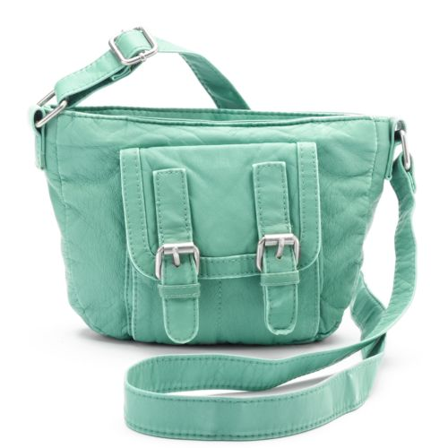 Mudd® Double-Buckle Mini Crossbody Bag