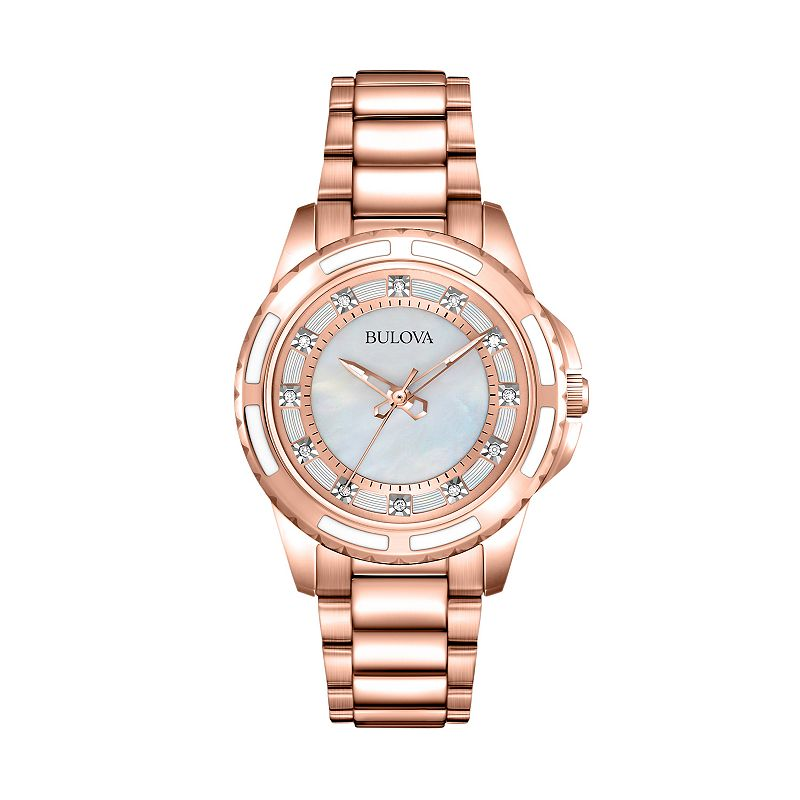 Bulova Women's Diamond Stainless Steel Watch - 98P141