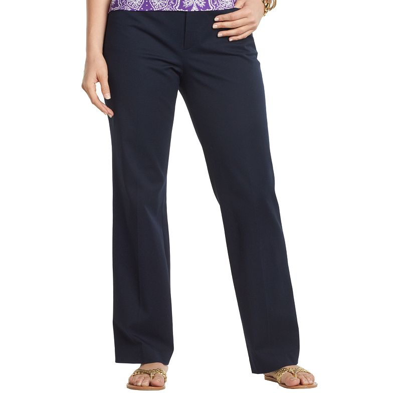 Plus Size Chaps Straight-Leg Dress Pants
