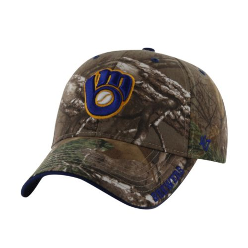 Adult '47 Brand Milwaukee Brewers Frost Realtree Camouflage Adjustable Cap