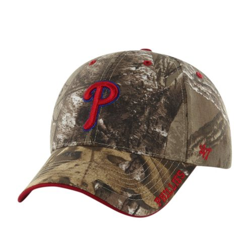 Adult '47 Brand Philadelphia Phillies Frost Realtree Camouflage Adjustable Cap