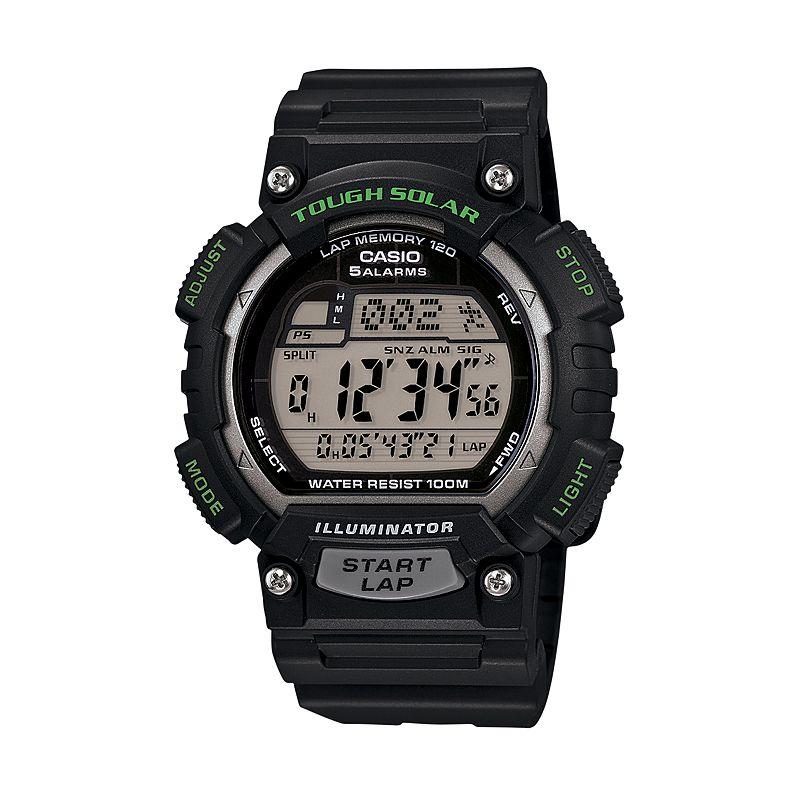 Casio Men's Tough Solar 120-Lap Digital Watch