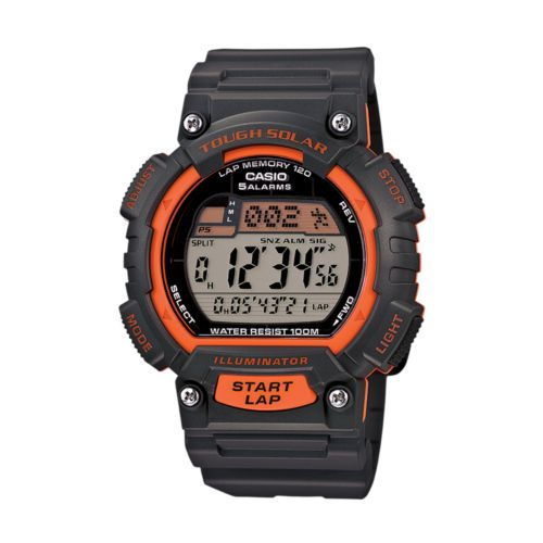 Casio Watch - Men's Tough Solar 120-Lap Resin Digital