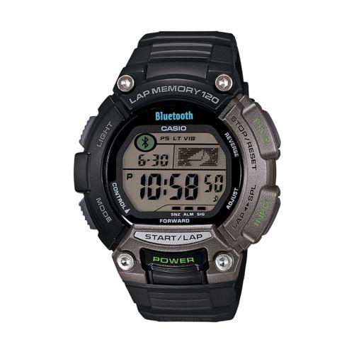 Casio Watch - Men's Bluetooth SPORTS GEAR 120-Lap Resin Digital