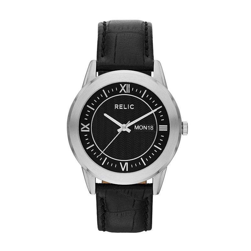 Relic Men's Caldwell Leather Watch
