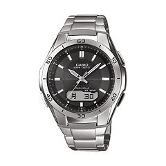Casio Men's Wave Ceptor Stainless Steel Analog & Digital Atomic Watch WVAM640D-1A