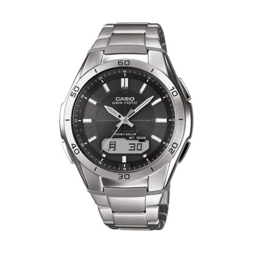 Casio Watch - Men's Wave Ceptor Stainless Steel Analog and Digital Atomic