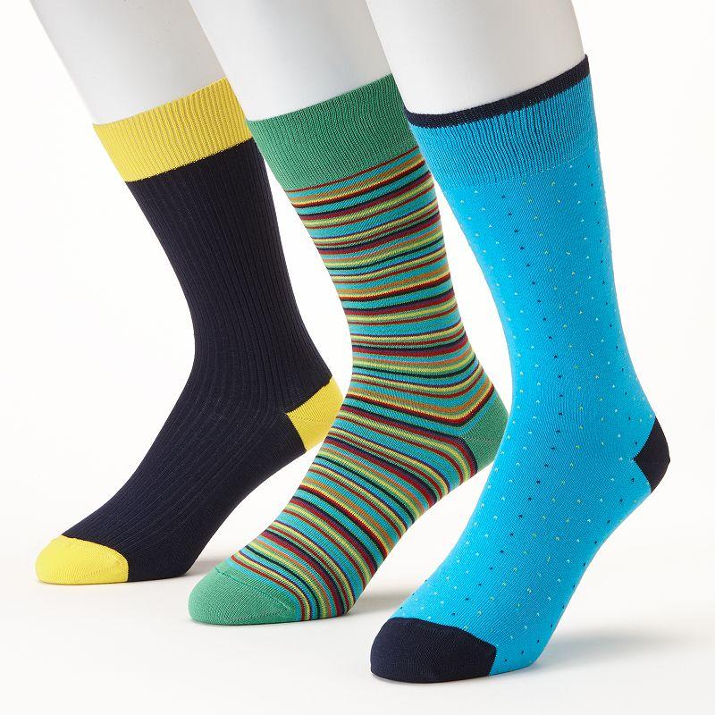Men's Lorenzo Raffinato 3-pk. Crew Dress Socks