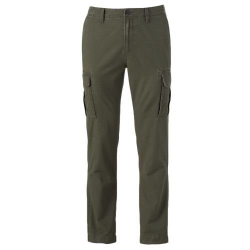 Men's SONOMA Goods for Life™ Slim-Fit Slubbed Twill Cargo Pants