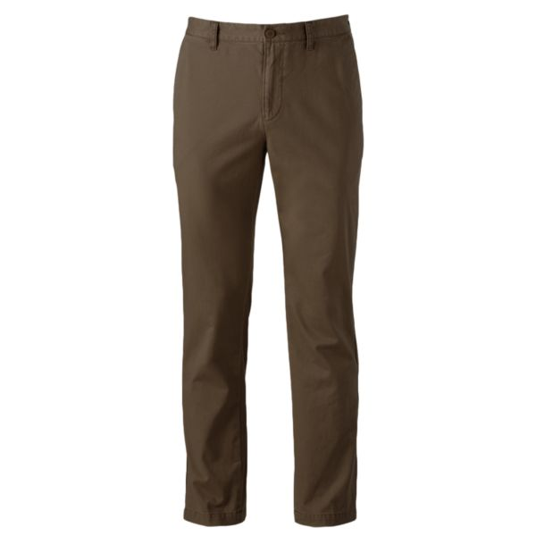 Men's SONOMA Goods for Life™ Slim-Fit Twill Flat-Front Chino Pants