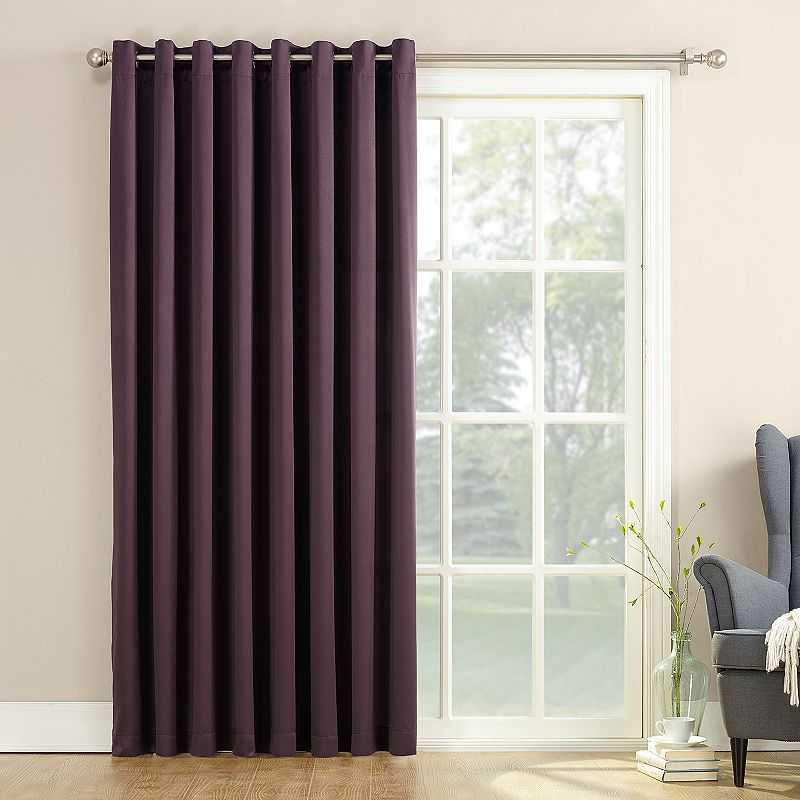 Sun zero gramercy room darkening patio door window panel for 100 door x