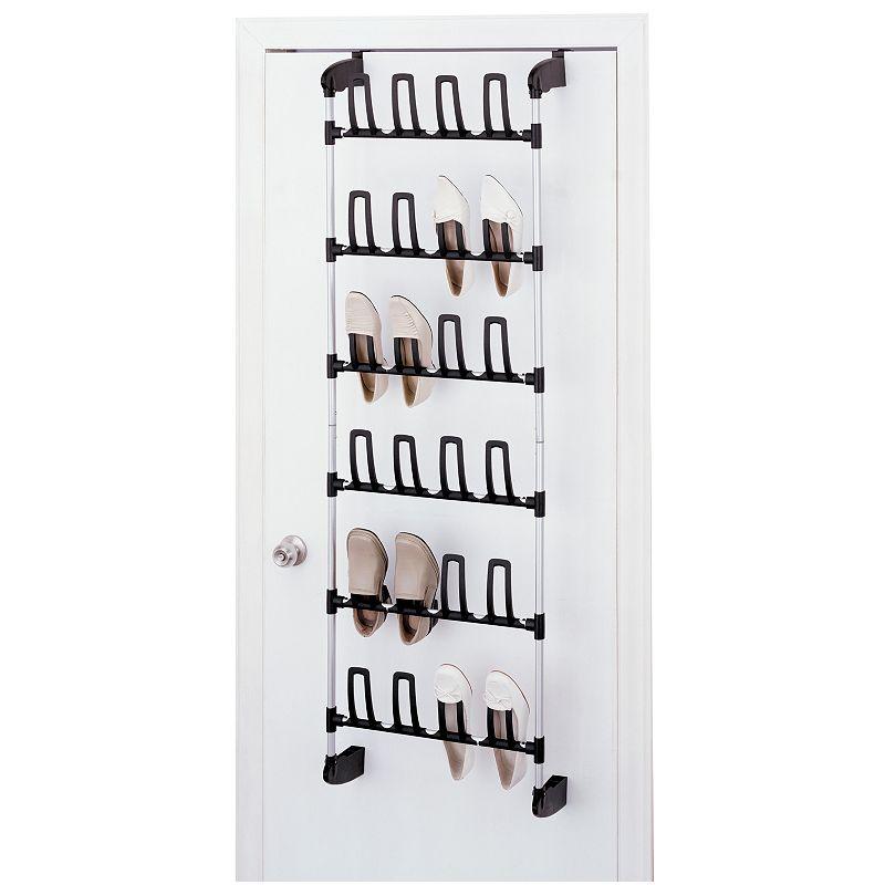 Neu Home 24-Hook Over-The-Door Shoe Rack