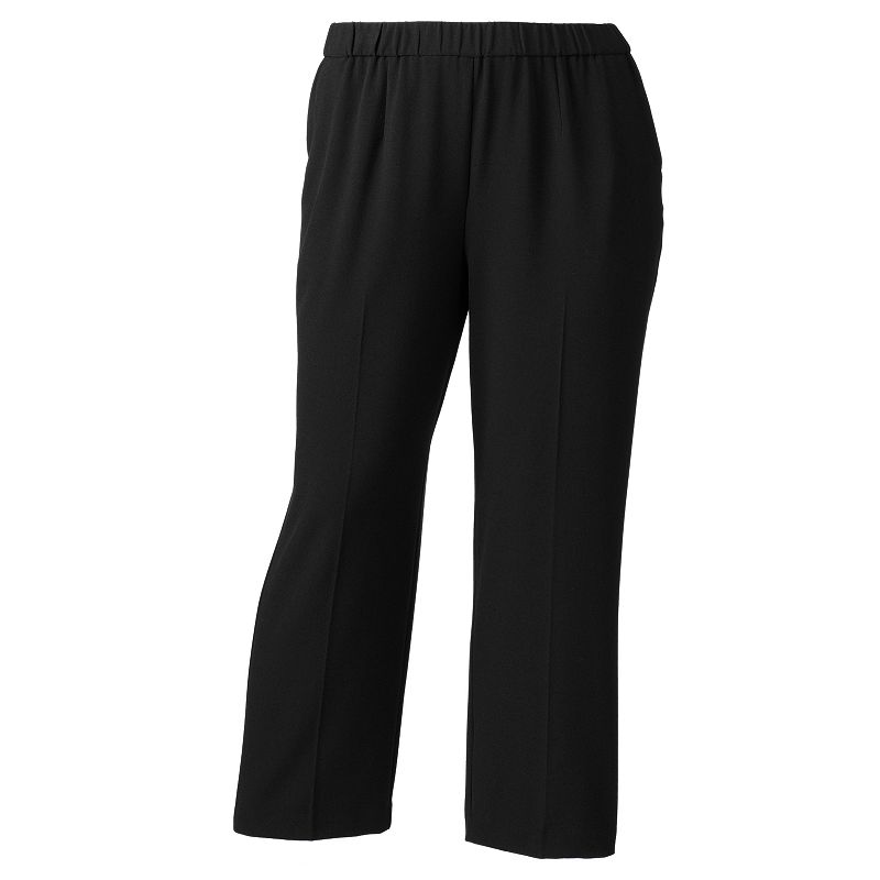 Plus Size Croft & Barrow® Solid Pull-On Dress Pants