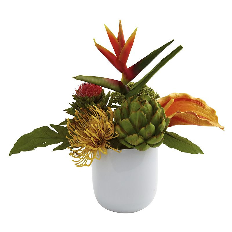 nearly natural Tropical Floral Arrangement