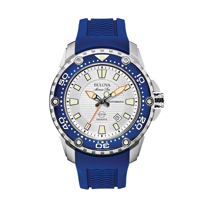 Bulova men 39 s marine star automatic watch for Watches kohls