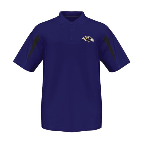 Men's Majestic Baltimore Ravens Field Classic Cool Base Polo