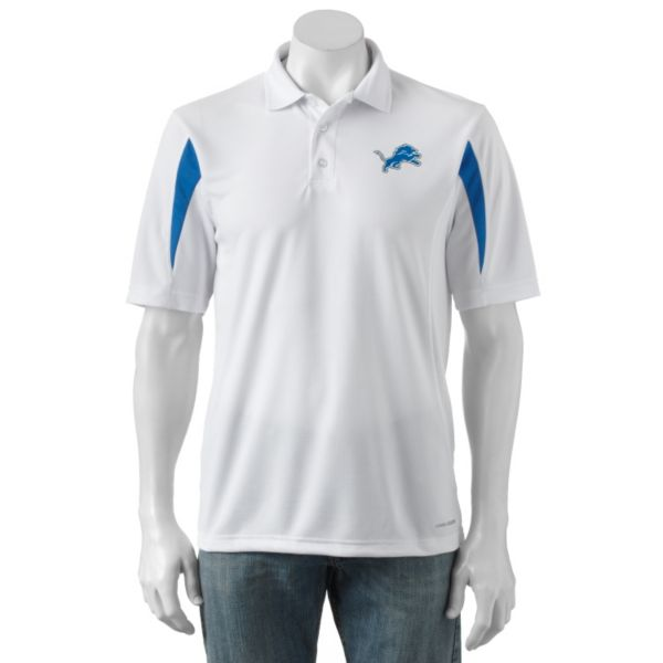 Men's Majestic Detroit Lions Field Classic Cool Base Polo