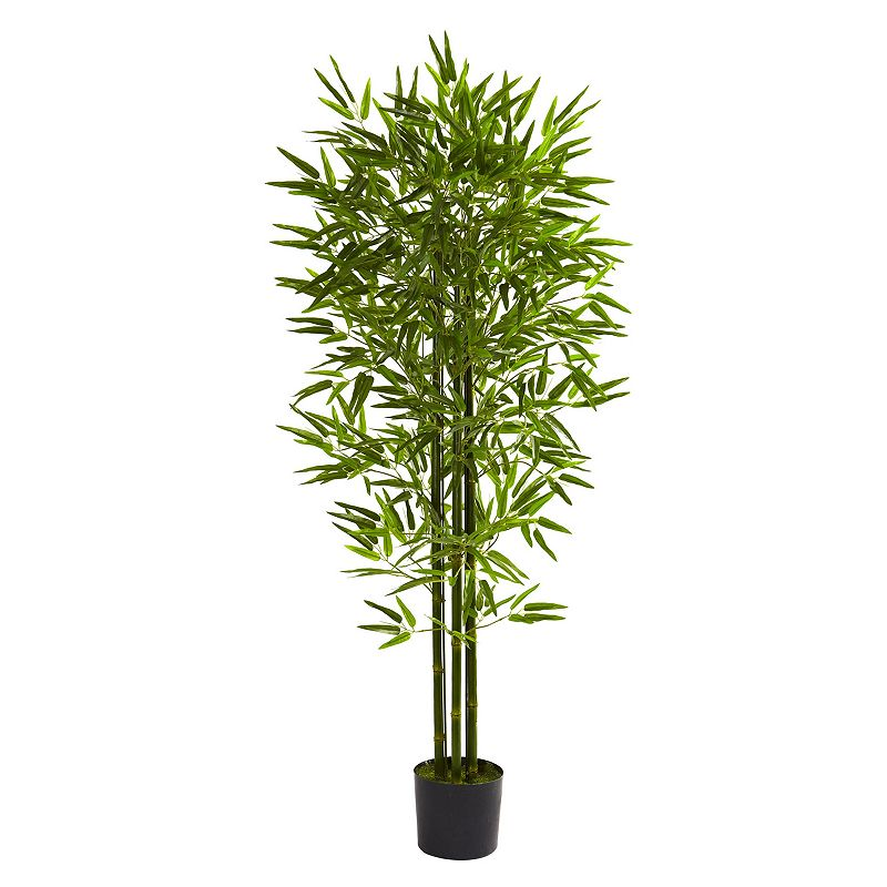 nearly natural 5-ft. Potted Bamboo Tree - Indoor and Outdoor