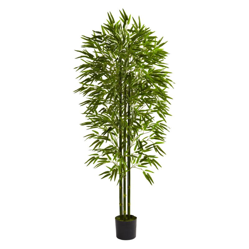 nearly natural 6-ft. Potted Bamboo Tree - Indoor and Outdoor, Green thumbnail