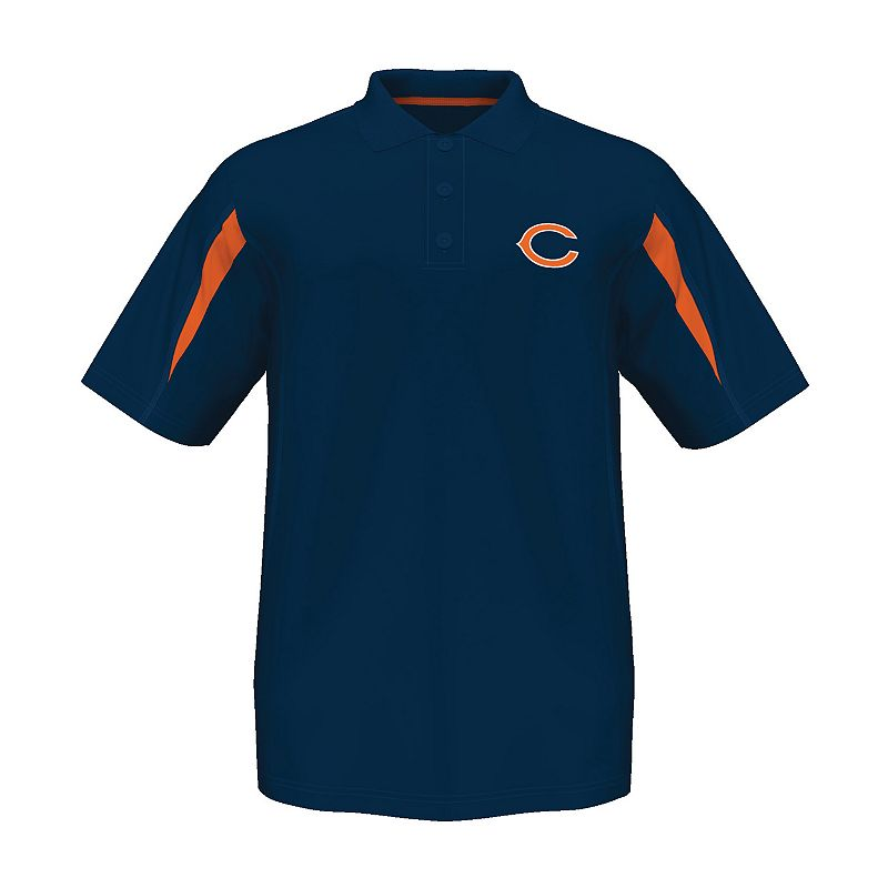 Men's Majestic Chicago Bears Field Classic Cool Base Polo