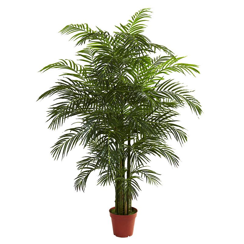 nearly natural 6 1/2-ft. Potted Areca Palm Tree - Indoor and Outdoor