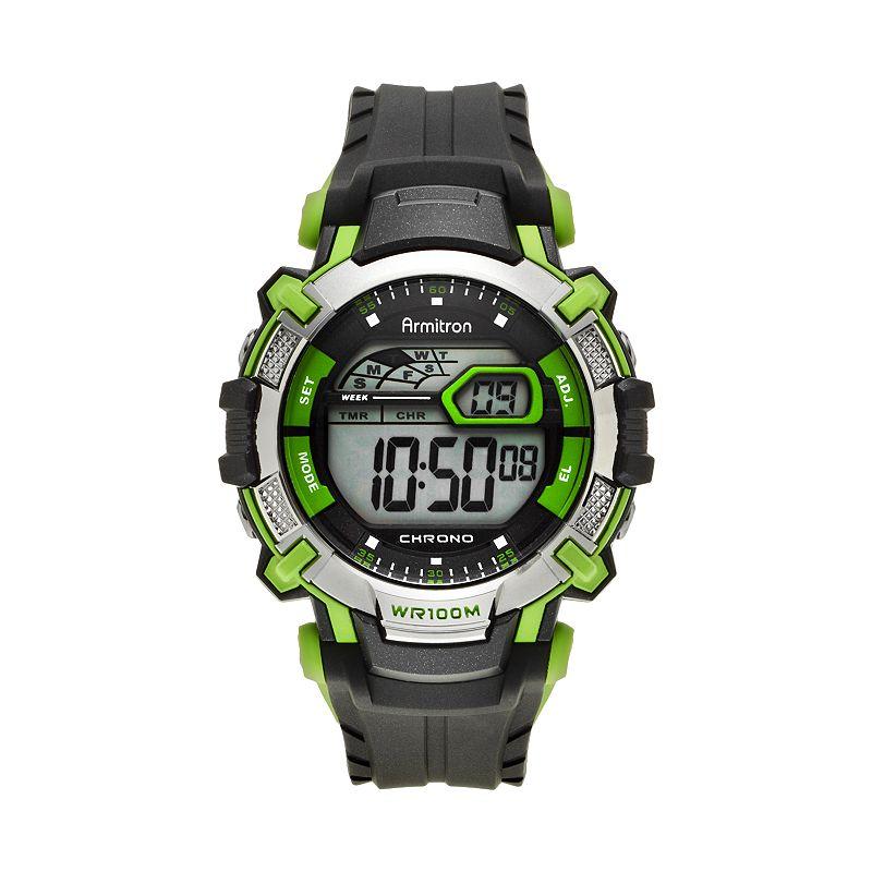 Armitron Men's Digital Chronograph Watch - 40/8312GRN