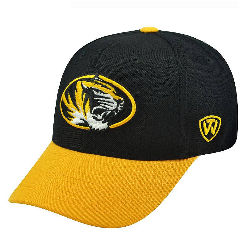 Adult Top of the World Missouri Tigers Receiver Premium Collection Adjustable Cap