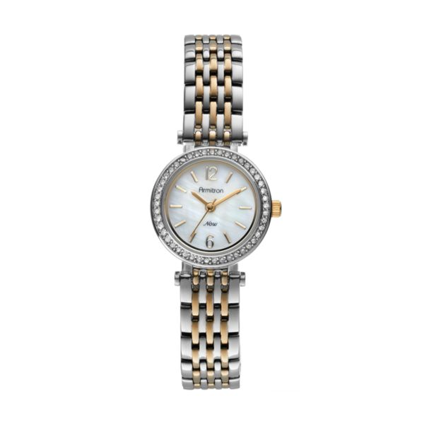 Armitron NOW Women's Crystal Two Tone Watch - 75/5229MPTT