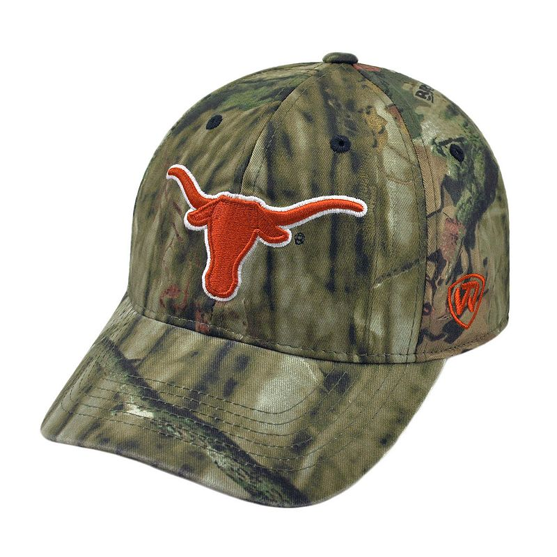 Adult Top of the World Texas Longhorns Resistance Mossy Oak Camouflage Adjustable Cap