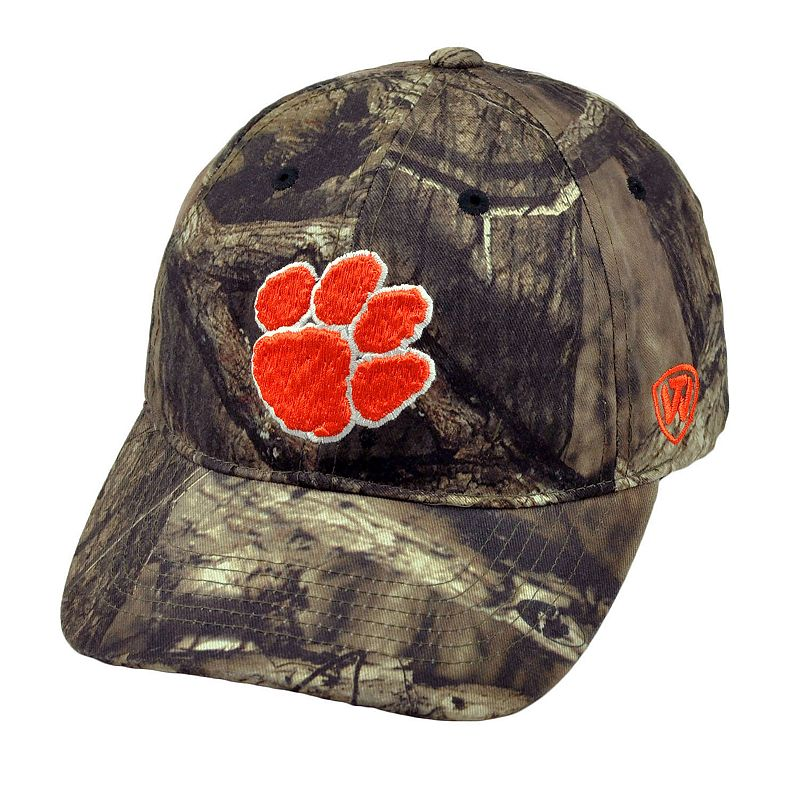 Adult Top of the World Clemson Tigers Resistance Mossy Oak Camouflage Adjustable Cap