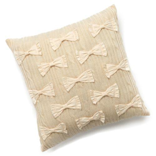 LC Lauren Conrad Cable-Knit Bow Decorative Pillow