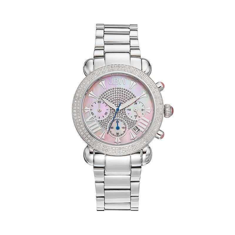 JBW Women's Victory Stainless Steel Chronograph Watch