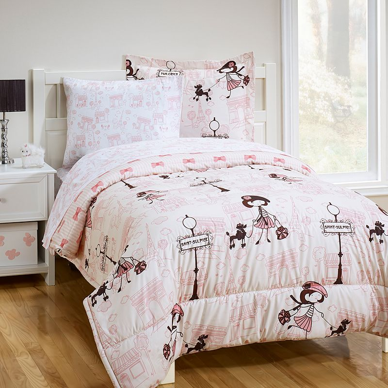Girl in Paris 5-pc. Bed Set - Twin