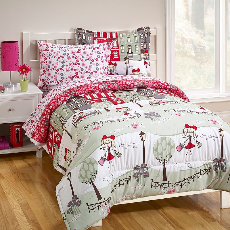 Girl in London 5-pc. Bed Set - Twin