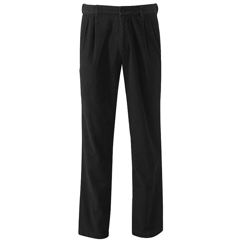 Big & Tall Croft & Barrow® Classic-Fit Pleated Corduroy Pants