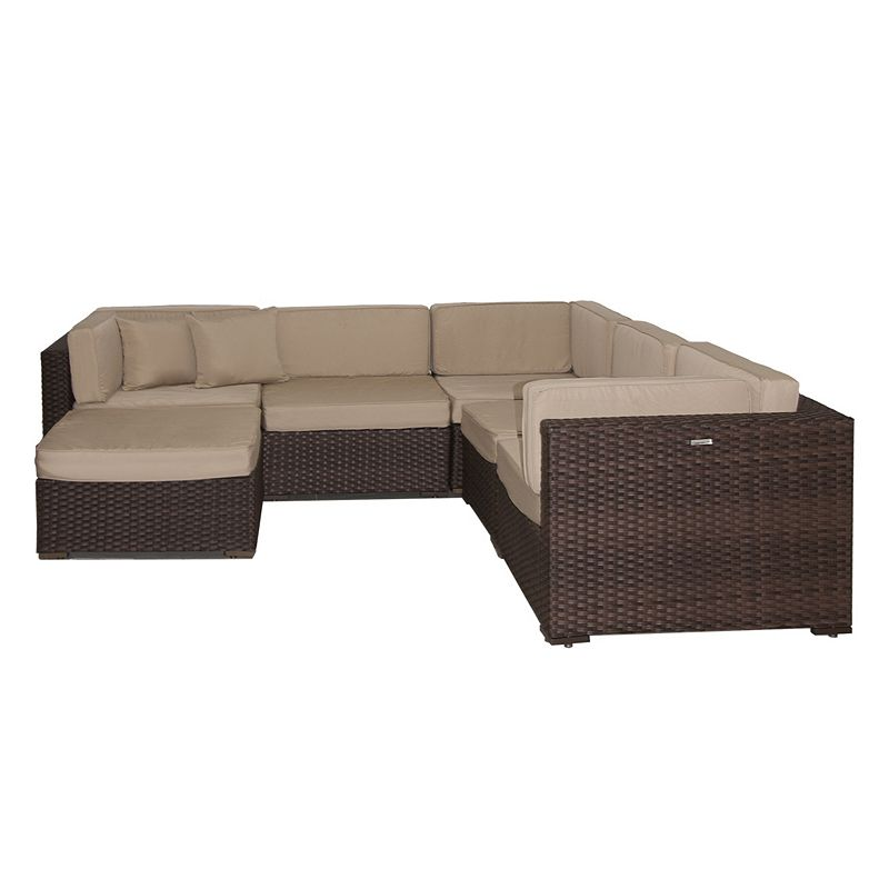 Atlantic Venetian Deluxe 6 Pc Sectional Patio Set Outdoor
