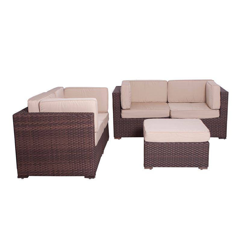 Atlantic Lille Deluxe 5 pc Patio Set Outdoor