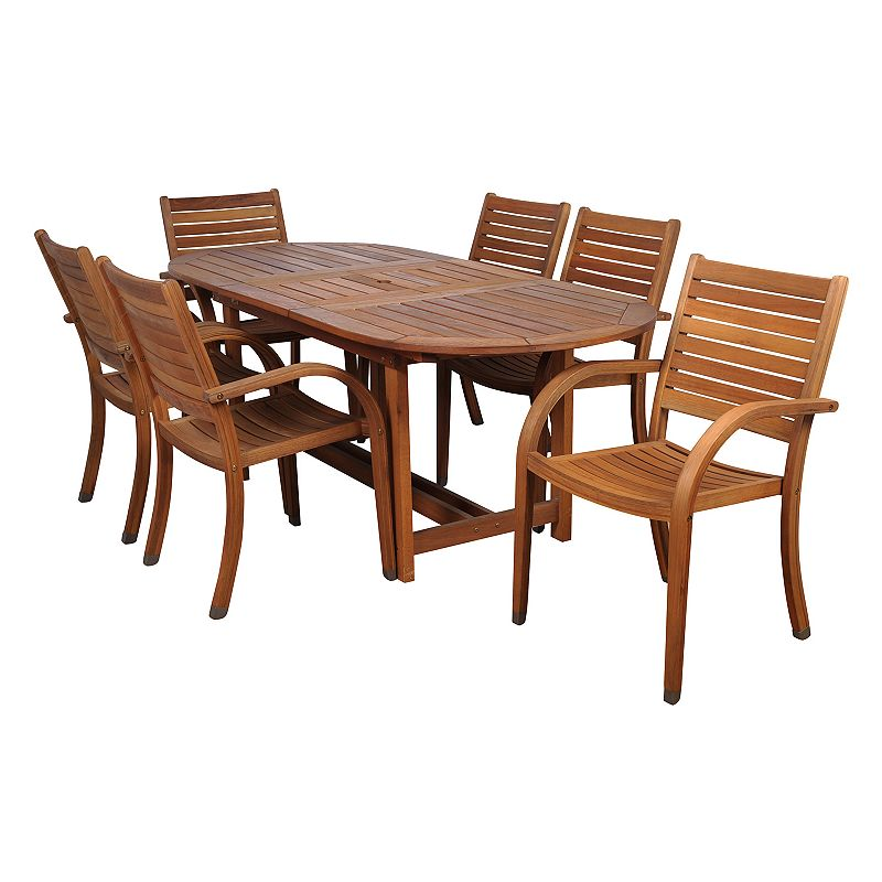 Amazonia Douglas 7-pc. Extendable Oval Dining Set - Outdoor