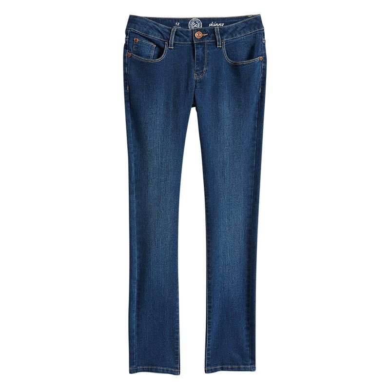 Girls' Plus Size SO® Skinny Jeans