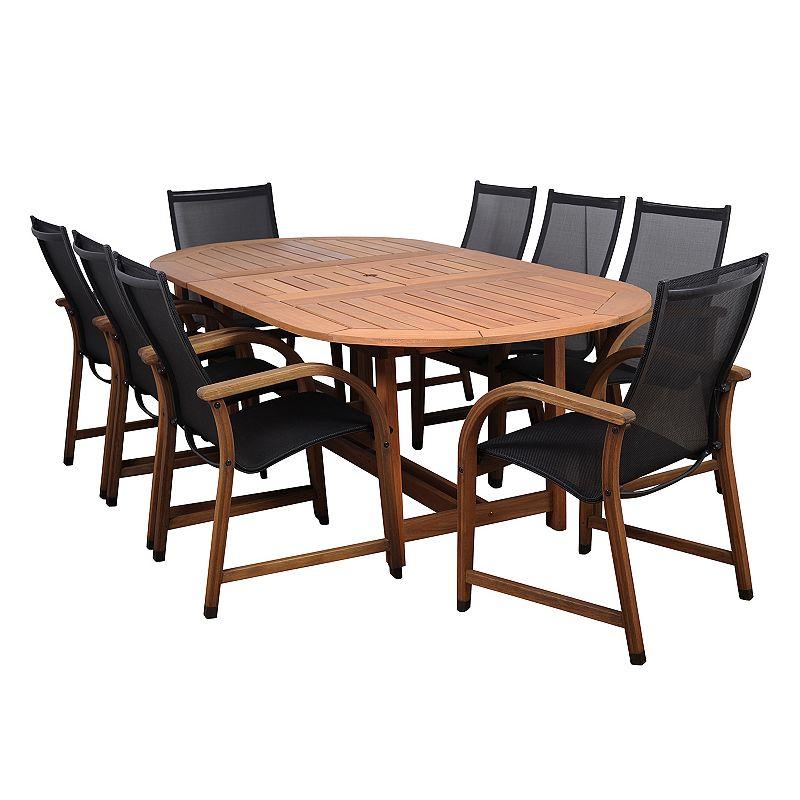 Amazonia Arthur 9-pc. Oval Extendable Dining Set - Outdoor