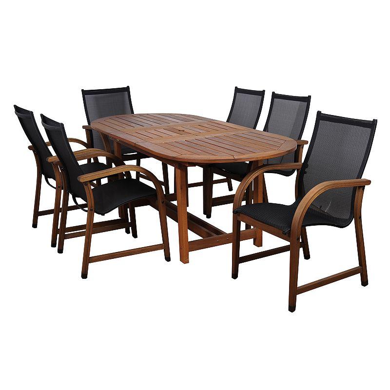 Amazonia Arthur 7-pc. Oval Extendable Dining Set - Outdoor