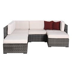 Atlantic Dijon 6-pc. Patio Sectional Set Outdoor by