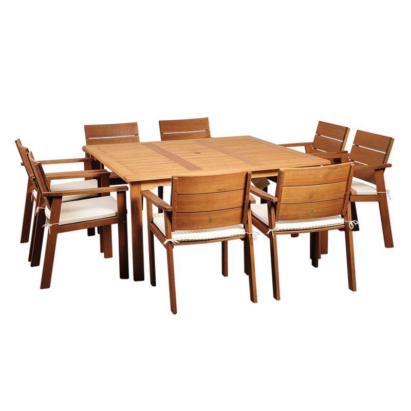 Eucalyptus Wood Outdoor Dining Set