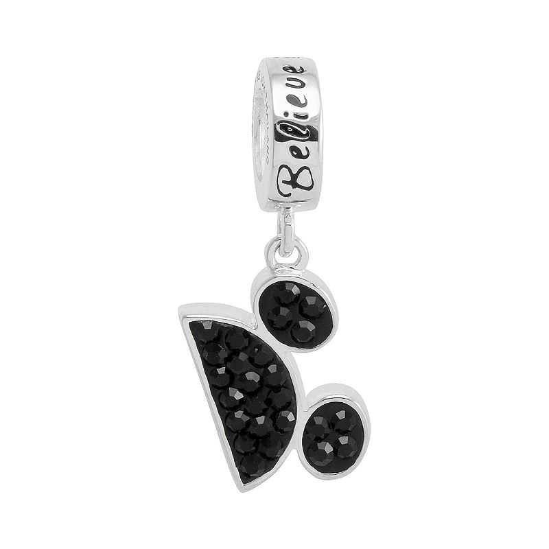 Disney Mickey Mouse Crystal Sterling Silver