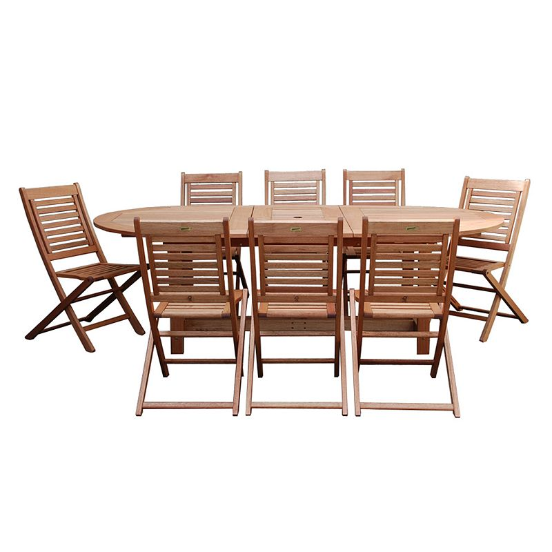 Amazonia Roma Grand 9-pc. Extendable Oval Dining Set - Outdoor