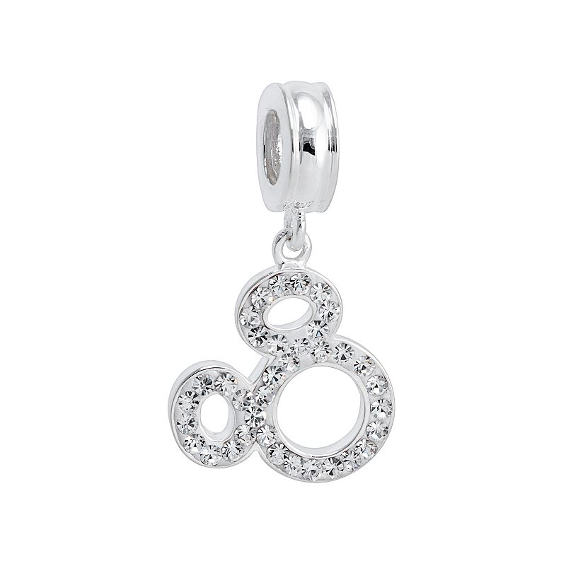 Disney Mickey Mouse Crystal Sterling Silver Charm